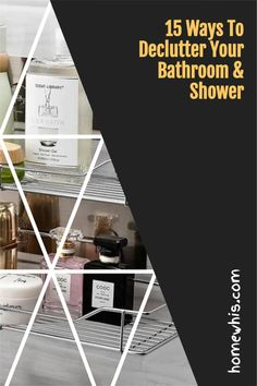 The bathroom is probably the last place we organize because there is just too much stuff and too little space. Here are 15 bathroom storage ideas that i have put together to help you increase your bathroom storage capacity and well as get it well organized so you'll love your bathroom more. Bathroom counter, bathroom under the sink area and wall mounted organizers, we've got you covered in this blog post #homewhis #bathroomorganization #undersinkorganization #declutter #storageideas Bathroom Counter Organization, Under Sink Organization, Sink Organizer, Home Organization, Organizers, Bathroom Corner Shelf, Bathroom Rack, Bathroom Storage, Steel Racks