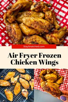 These Air Fryer Frozen Chicken Wings (No Thaw) are perfect for weeknight dinners and meals when you are strapped for time. Enjoy these in a crispy dry rub or breaded and fried! Air Fry Recipes, Air Fryer Dinner Recipes, Cooking Recipes, Healthy Recipes, Frozen Chicken Wings, Air Fryer Healthy, Weeknight Dinners, Quick Easy Meals, Instant Pot