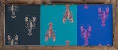 "Bestell Nr. 012  Portobello Rasch-Textil Papiertapeten Bild ""Langusten"" Quer Gross. Andere Laufrichtung. Grösse 1720 mm x 750 mm   CHF. 380.00"