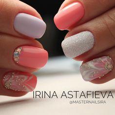 "Polubienia: 11, komentarze: 1 – MasterNails : Ирина Астафьева (@masternailsira) na Instagramie: ""• Мимими • _____ - гель лак - ручная роспись - пудра - стразы ______ #masternails #nails #Pushkin…"""