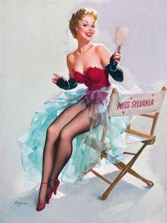 """Miss Sylvania"", Sylvania calendars, 1951-1960 by Gil Elvgren  #544"