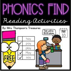 FREE! Great for intervention or just extra practice, these phonics activity pages will engage your students as they practice reading and writing basic spelling patterns.