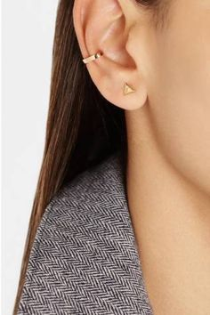 Anita Ko's rose gold ear cuff adds the perfect bit of edge to any outfit.