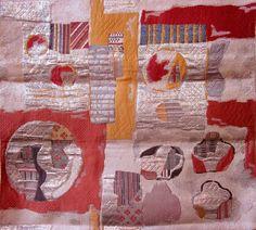 Detail of a vintage silk obi, Japan. Tapestry weave.