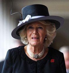 Duchess of Cornwall, November 11, 2015 in Philip Treacy   Royal Hats