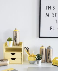 Pantone inspired Office Objects – Bringing your space up to date Space Up, Your Space, Gold Spray Paint, Gold Line, Pantone Color, Color Trends, Objects, Bring It On, Inspired