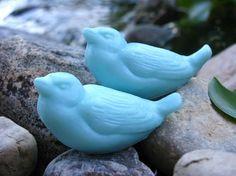 Cute aqua bird soaps!