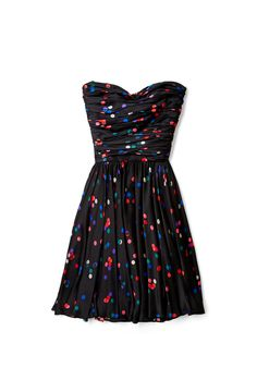 Confetti Print Bustier Party Dress by Halston Heritage