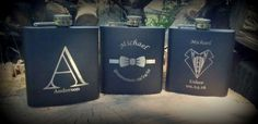 Flask Engraved Groomsmen Gift Personalized by BPLaserEngraving
