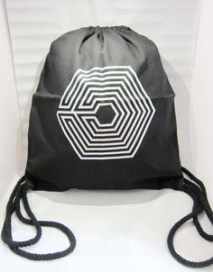 EXO Overdose Drawstring Bag - Silver
