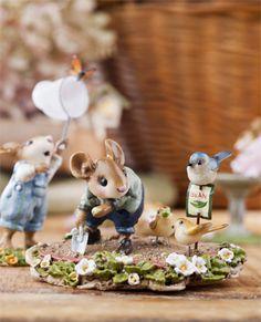 Whimsical Wee Forest Folk |Garden mice| C.Zampini Photography