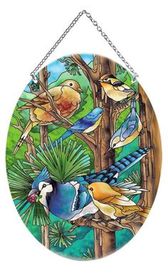 Suncatcher-LO054R-Wild Birds - Wild Birds Cut Glass, Glass Art, Glass Painting Patterns, Glass Engraving, Stained Glass Birds, Chickadees, Dream Home Design, Applique Quilts, Wild Birds