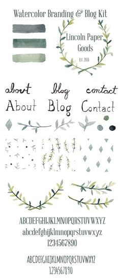Watercolor Branding and Blog Kit - Graphics - 1: