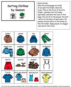 Weather And Seasons Unit 60 Pages With Assessments Sorting Seasons And Clothes