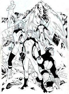 All New X-Men (Variant Cover) by Stuart Immonen and Wade Von Grawbadger Comic Book Pages, Comic Book Artists, Comic Artist, Comic Books Art, X Men, Comic Character, Character Design, Stuart Immonen, Universe Art