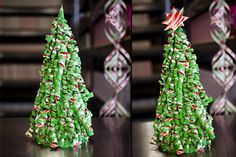 curly paper Christmas trees #DIY