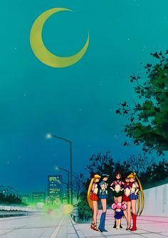 sailor moon 90s anime shot