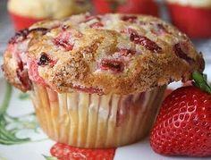 strawberries and cream muffin