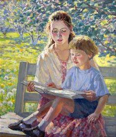 """""""Reading"""" by Marina Chulovich"""