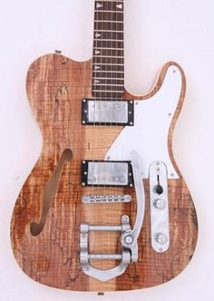 Spalted Maple semi hollow Electric Guitar