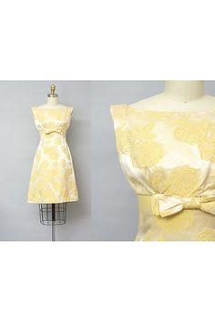 1960s dress / ROSE BROCADE Dress / 1960s Mini by LantanaVintage find more women fashion ideas on www.misspool.com