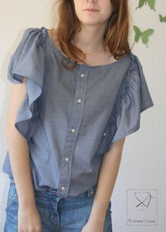 Ma chemise d'homme | Top Maela
