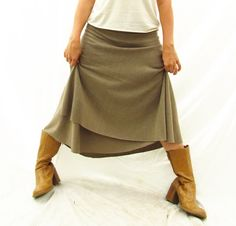 Below Knee Wrap Skirt  Hemp and Organic by VioletStarCreations, $70.00
