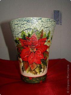 Решила сделать красивую вазу, специально для этого купила стеклянную вазу. Долго смотрела, думала, зрела. И вот ее час пришел. Заодно решила попробовать сделать мастер класс. фото 1