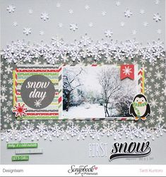"TantiK Creation: Layout ""First Snow""."