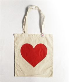 Totes! Heart tote bag from Ban.do at Note Worthy