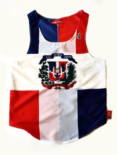 Special Pre-Season Price $49.99MSRP $59.03This item features the Dominican Republic flag printed on knit polyester fabric. The graphic is an all over print protecting the design integrity from front to back.  This tank top has no stretch and the garment runs true to size. Reference size chart below.Assembled in America of imported fabricFeatures:Vibrant colorsDetailed printClassic fitQuality constructionChris Cardi gorilla appliqueMade of light polyester ...