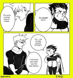 promsien : Age swap au with a random comic.