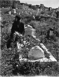 Patti Smith at Jean Genet's grave - Larache, Morocco. Photo: M Train http://www.smh.com.au/entertainment/music/patti-smiths-memoir-m-train-reveals-a-life-in-pictures-20151027-gkirra.html