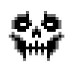 Pixel Skull by Mr. Skull Anatomy, Skeleton Anatomy, Pixel Art Grid, Skull Sketch, Pixel Drawing, Sewing Machine Projects, Macabre Art, Skull Painting, Animal Crossing Qr