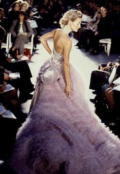 Christian Dior Haute Couture from years ago. Thought of Galiano after fascinating interview about his fall from grace...