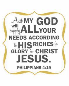 517 creations: {philippians 4:19} filler print....