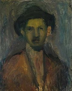 Portrait of the Painter Waldmulle, 1923 George Bouzianis Fine Art, Painter, Art Drawings, Painting, Greek Art, Visual Art, Artwork, Portrait, Figurative Art