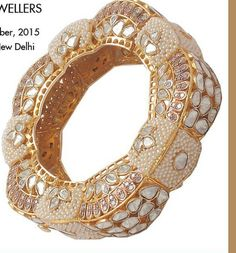 South Asian high karat gold jewellery - pearl and gold bangle