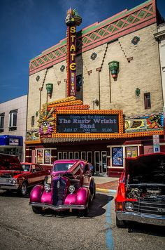 Car show at the State Theatre in Bay City, Michigan, photo by Chris (Midland05), via Flickr
