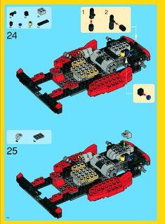 Lego Creator Sets, The Creator, Lego Truck, Lego Sculptures, Lego Instructions, Legos, Trucks, Big, Lego