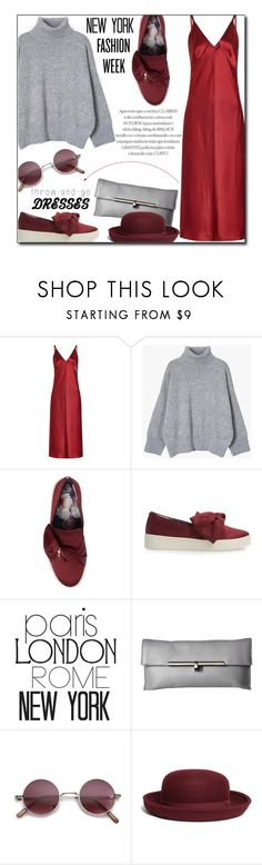 """NYFW 2018"" by sherieme ❤ liked on Polyvore featuring Helmut Lang, WALL, Botkier, Brooks Brothers, NYFW, polyvorecontest, nyfwstreetstyle, DressAndSneakers and throwandgodresses"