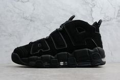 on sale a3aa7 4a8a1 High Quality Nike Air More Uptempo Triple Black Mens Size Shoes 414962-004  For Sale