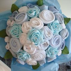 Shabby Chic Boy Baby Shower | New Luxury 20 Item Baby Boy Bouquet Baby Clothes Baby Shower Nappy ...