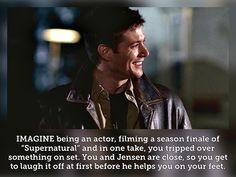 Supernatural Fanfiction, Supernatural Imagines, Supernatural Destiel, Teen Wolf Imagines, Winchester Boys, Jensen Ackles, On Set, Geeks, Writing Prompts