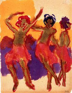 Emil Nolde - Three Dancing Girls
