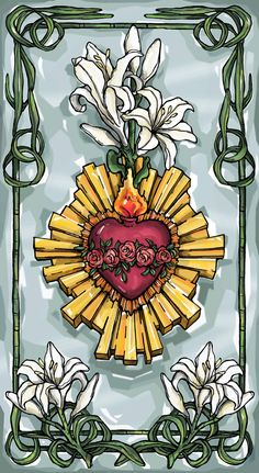 Immaculate Heart Of Mary Prayer Card by ModHMary on Etsy