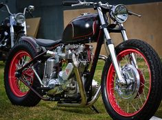 nothing like british iron. takes a real man to ride a hard tail triumph