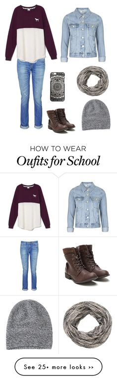 """""""School fall look"""" by fashiongirlprox on Polyvore featuring rag & bone, Victoria's Secret, Topshop, maurices and Toast"""