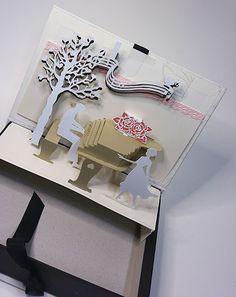 팝업 카드 선물 상자..피아니스트와 연인 pop up card box