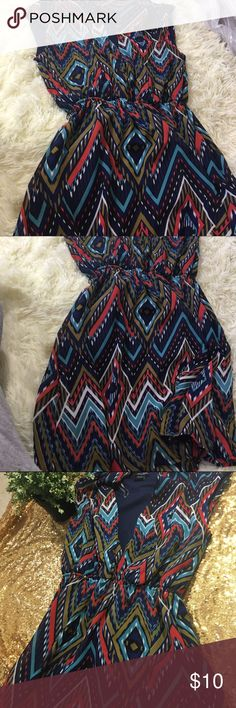 Short Stripe Print Dress Great condition. Worn once. Bundles and offers welcome! Dresses Mini